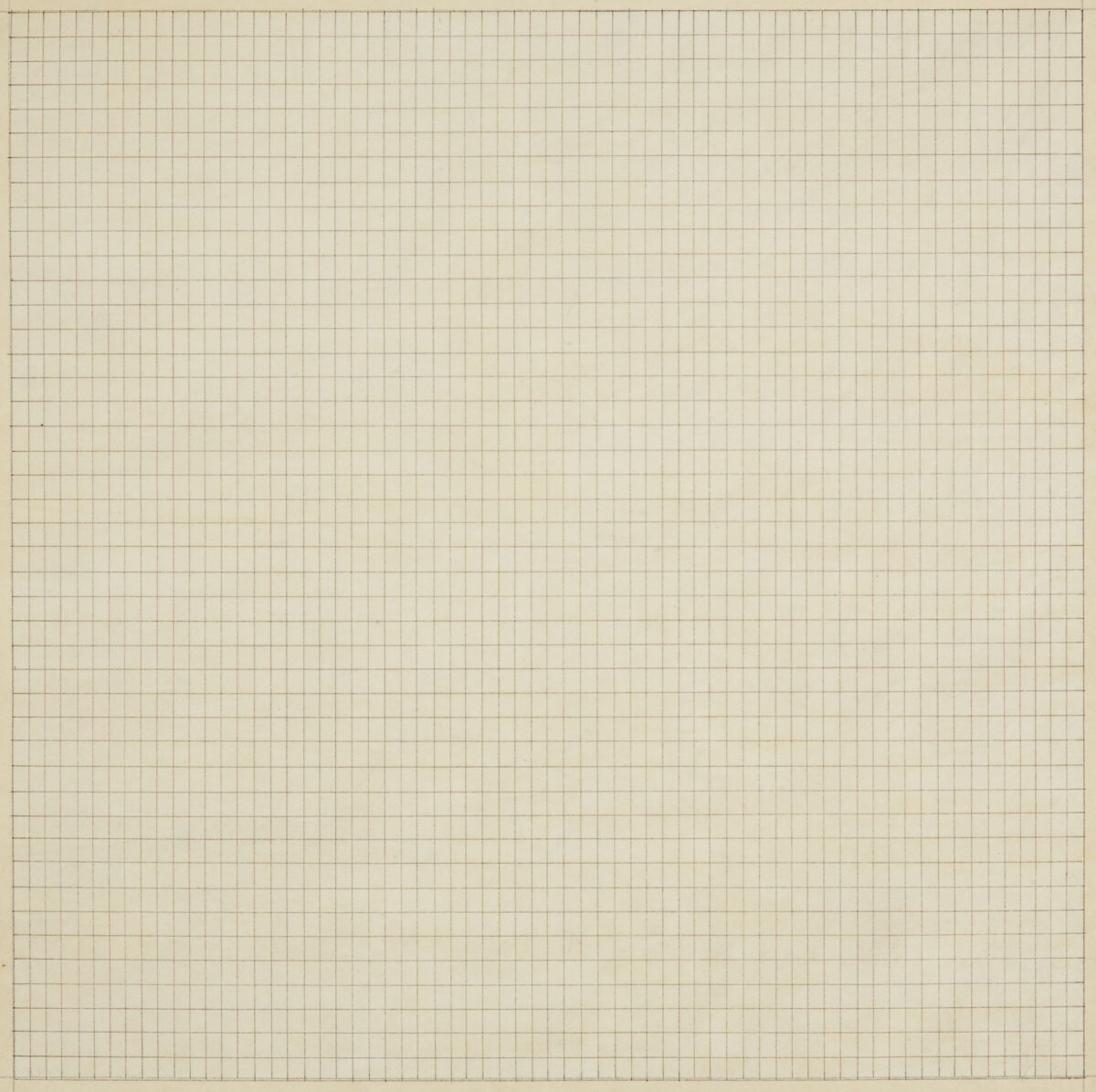 Agnes Martin Untitled original watercolour ink and pencil on paper signed inscriped and dated on the reverse by the artist for sale