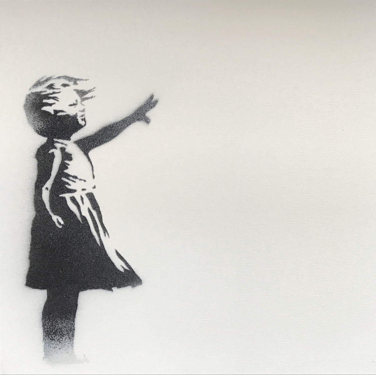 Banksy Balloon Girl LH canvas
