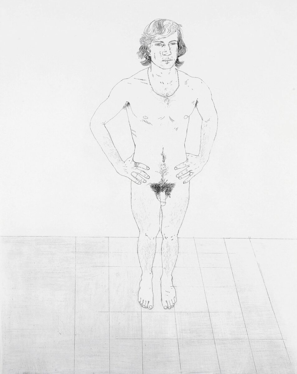 David Hockney Peter, original etching print for sale