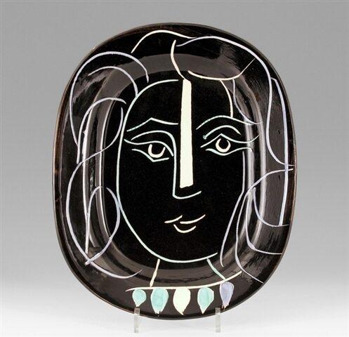 Pablo Picasso Visage de Femme original glazed ceramic plate from the edition of 400 for sale