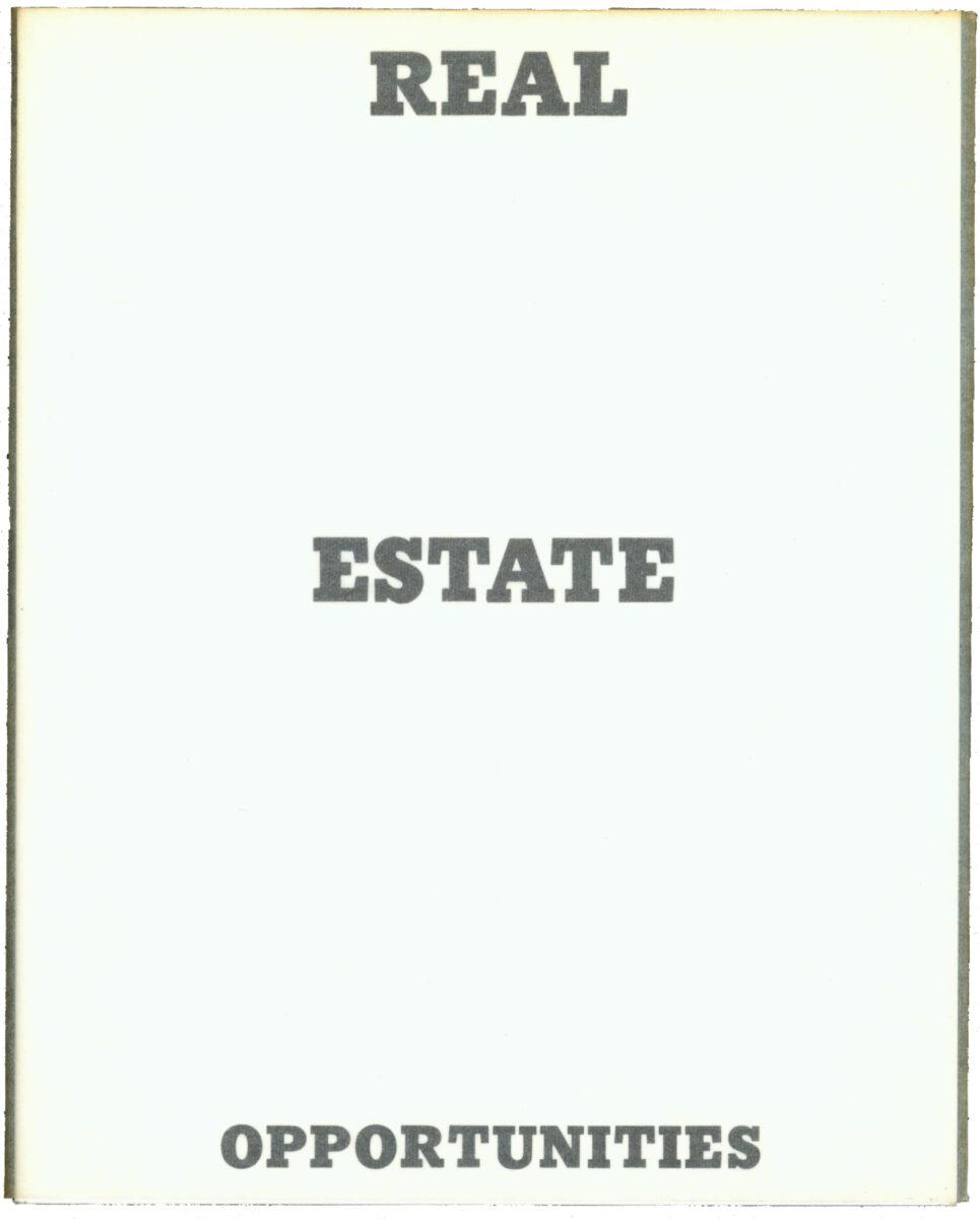 Ed Ruscha Real Estate Opportunities artists book