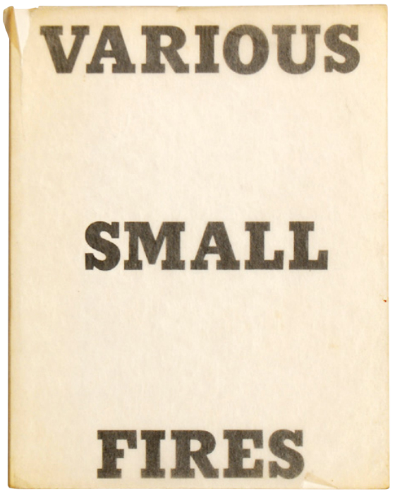Ed Ruscha Various Small Fires and milk artists book for sale