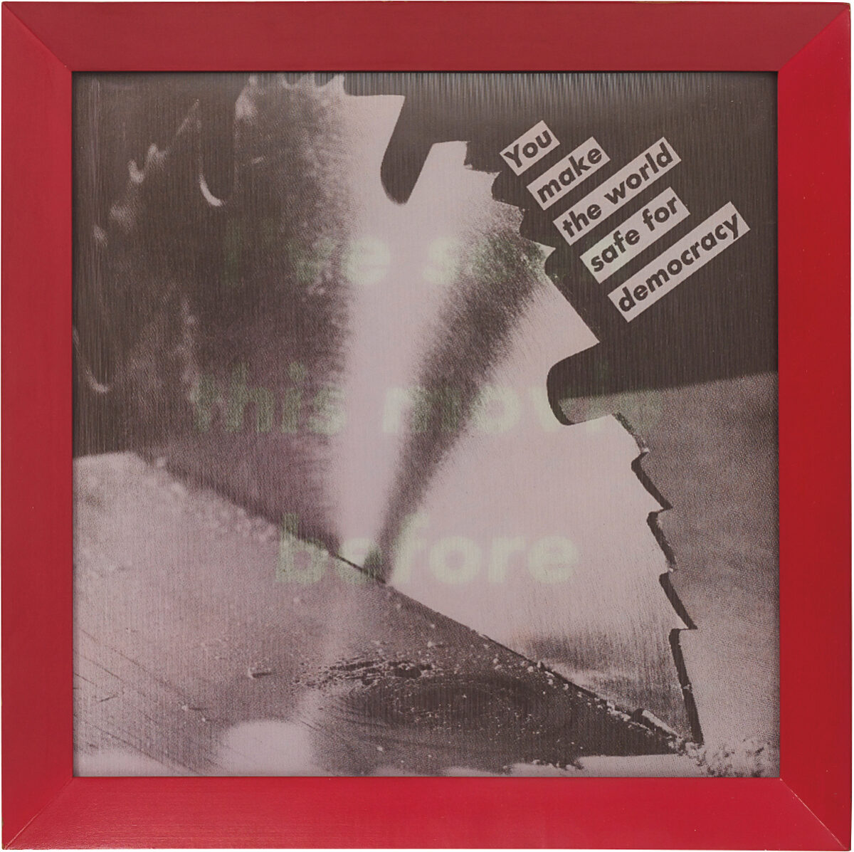 Barbara Kruger Untitled lenticular photograph in purple from edition of six