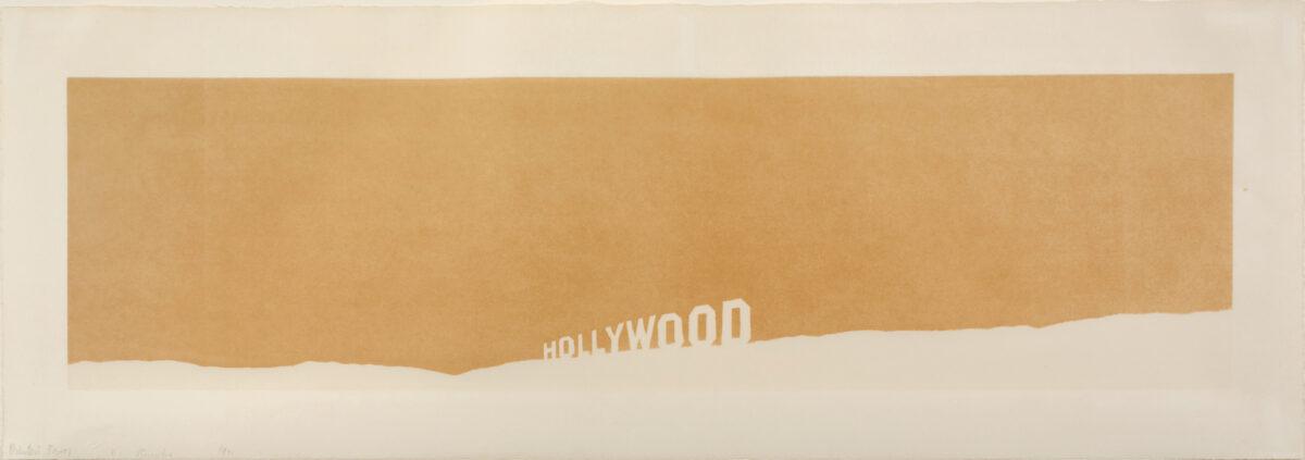 Ed Ruscha Fruit-Metrecal Hollywood screenprint for sale