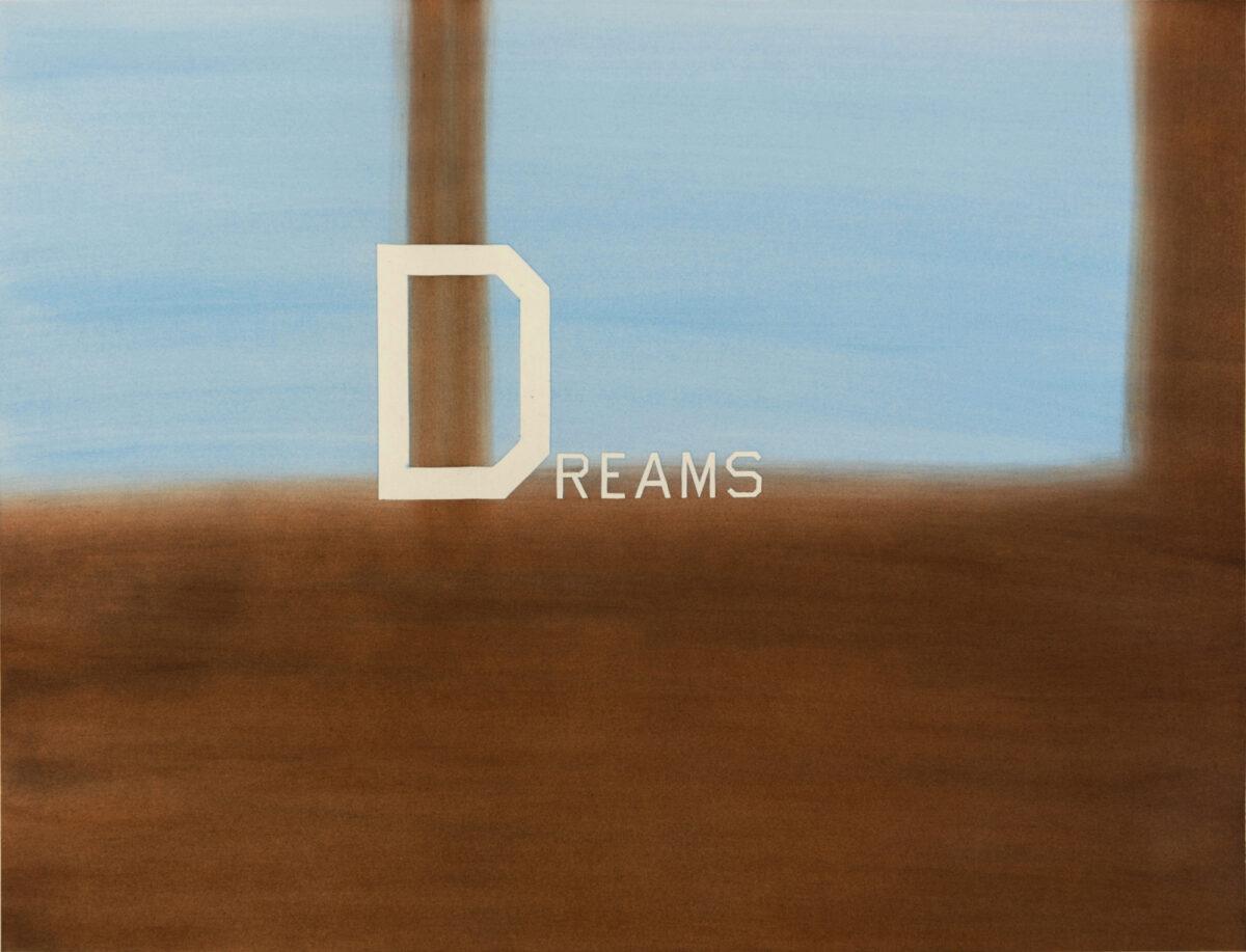 Ed Ruscha Dreams mixed media