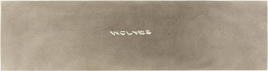 Ed Ruscha Wolves gunpowder on paper