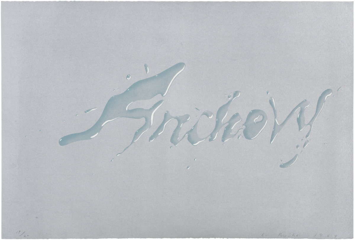 Ed Ruscha Anchovy signed lithographic print for sale