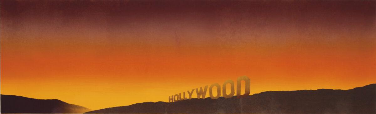 Ed Ruscha Hollywood original signed screenprint for sale
