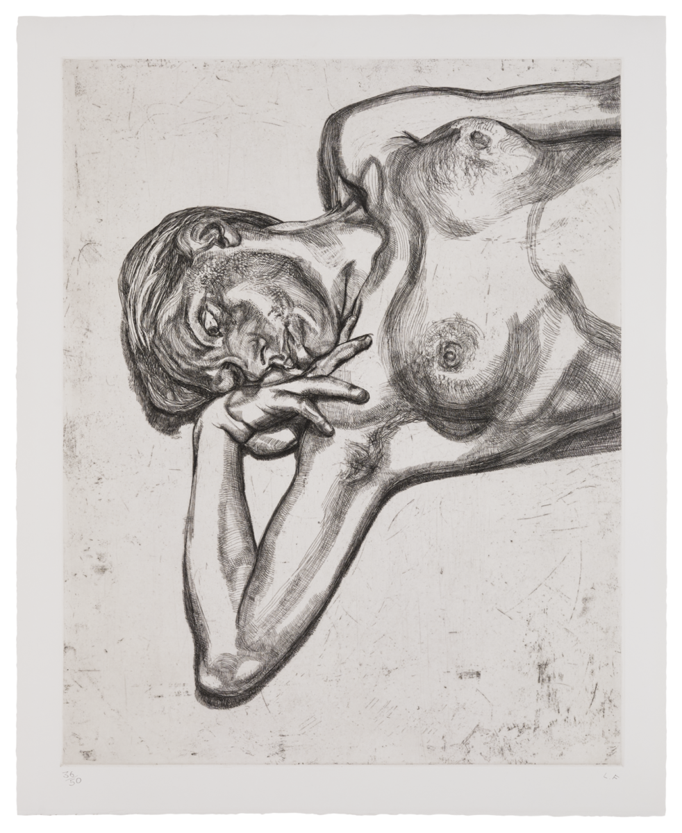 Lucian Freud Head and Shoulders of a Girl original signed etching for sale