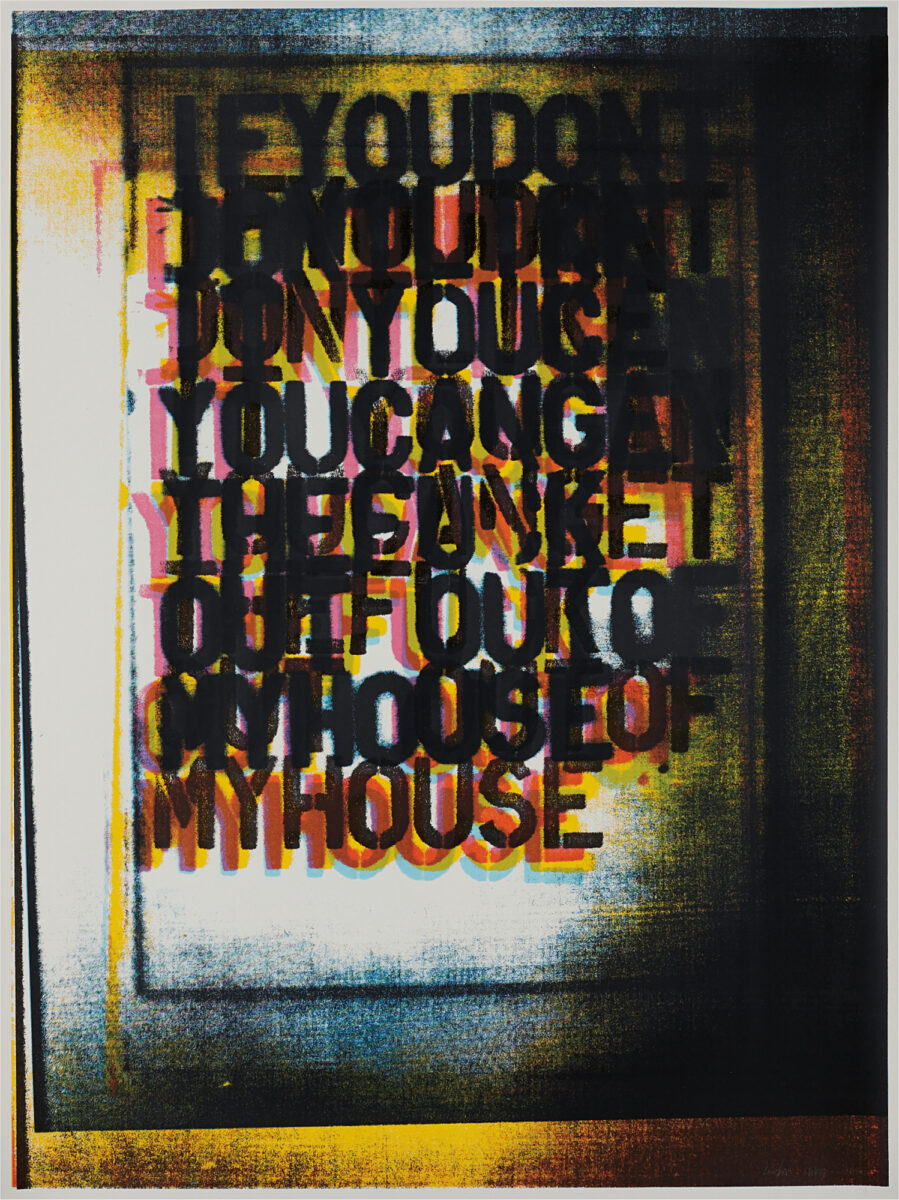 Christopher Wool My House I signed colour screenprint for sale