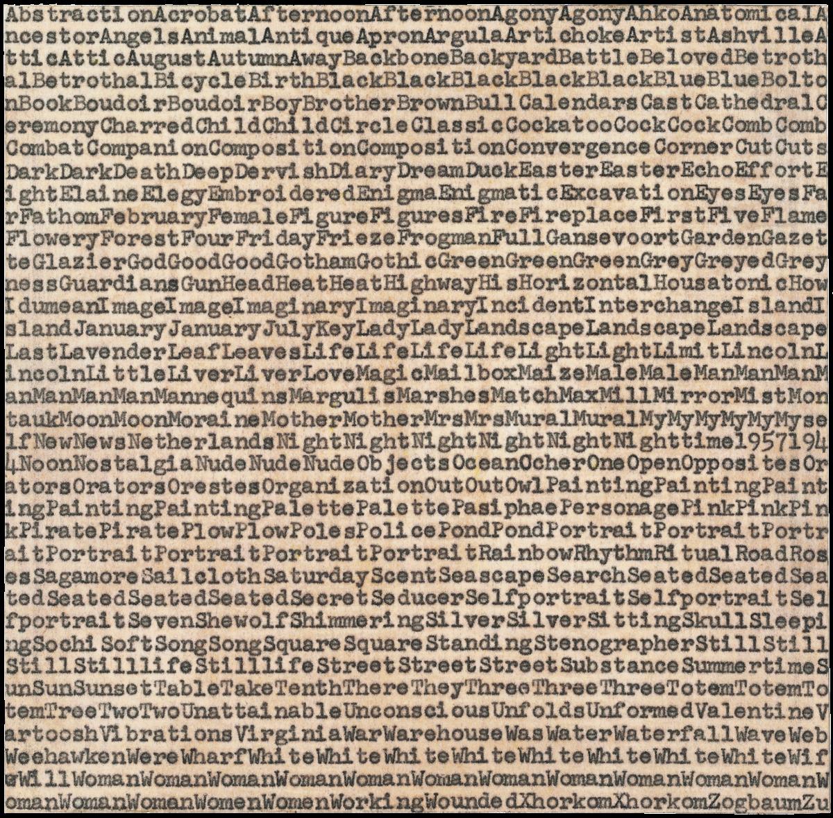 Carl Andre De Kooning Gorky Pollock carbon copy print for sale