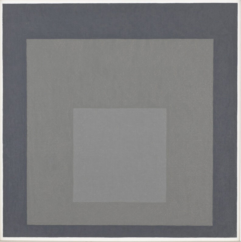 Josef Albers Study for Homage to the Square 1967 original oil painting for sale