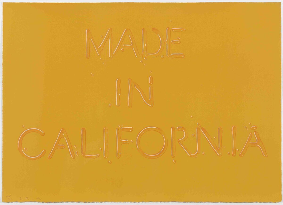 Ed Ruscha Made In California original signed screenprint for sale