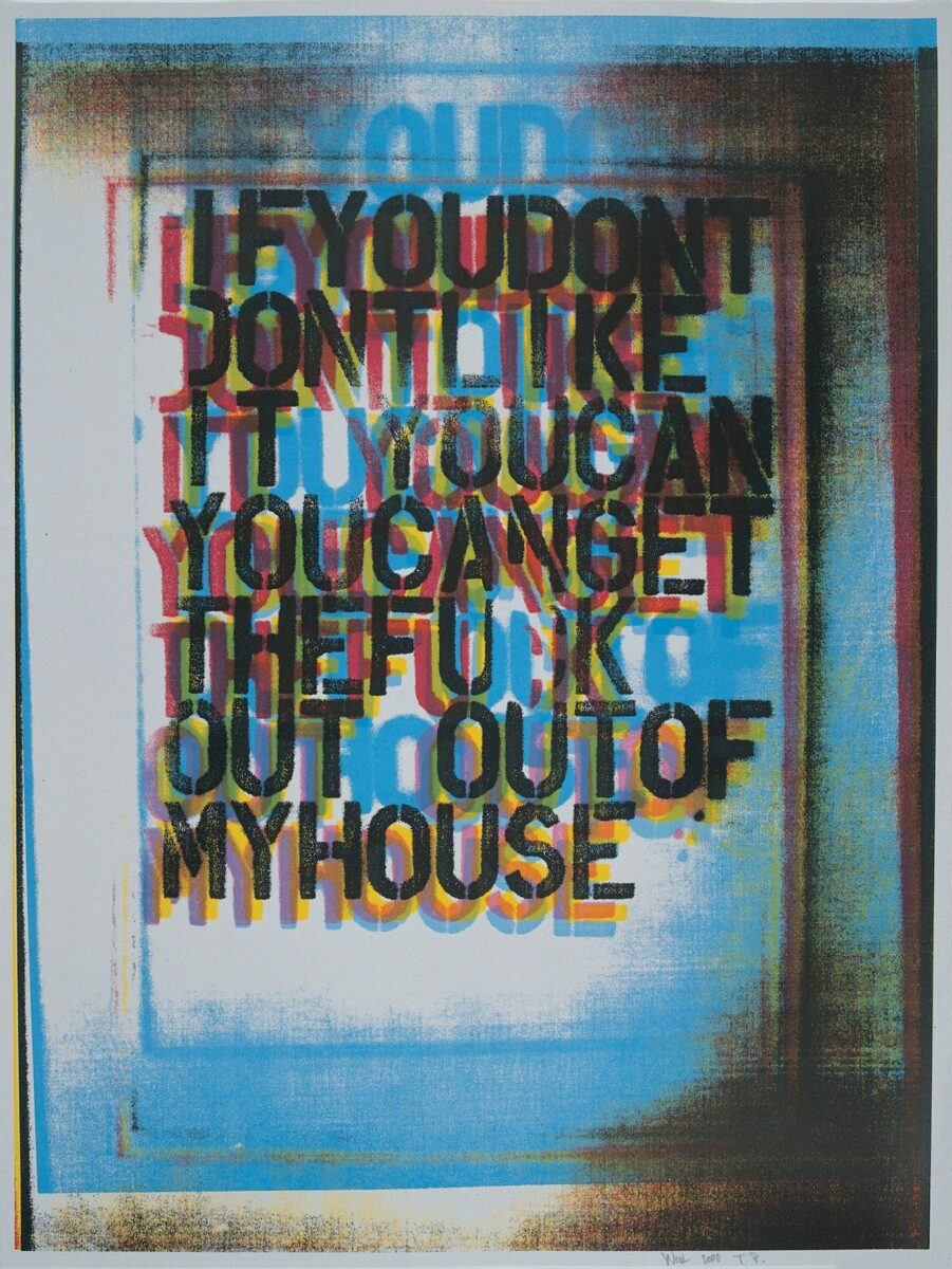 Christopher Wool My House II signed colour screenprint for sale