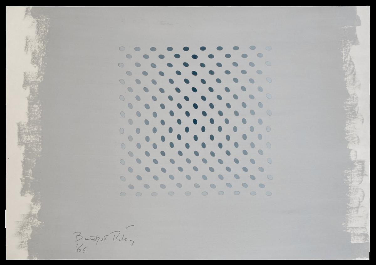 Bridget Riley Untitled [Study towards Deny and Nineteen Greys] original painting