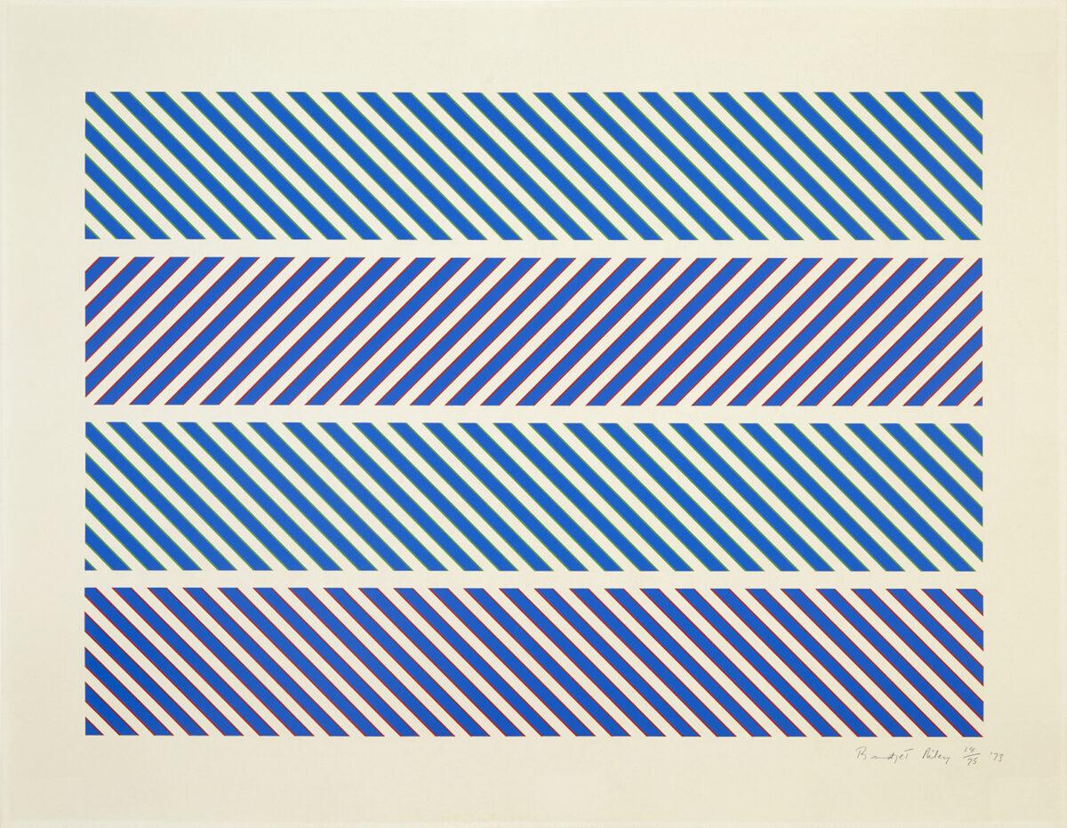 Bridget Riley Untitled [Rothko Portfolio] original colour screenprint for sale
