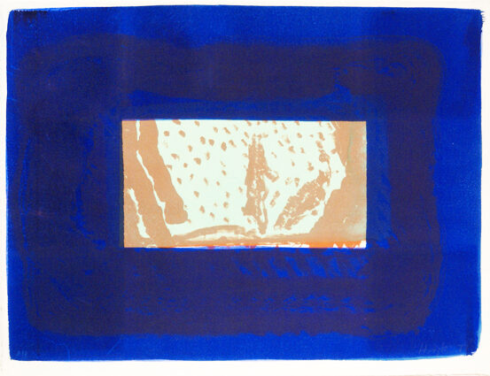 Howard Hodgkin Birthday Party original lithograph with hand colouring from the edition of 50 signed and dated for sale