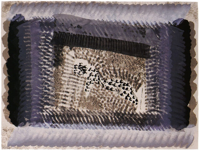 Howard Hodgkin One Down original lithograph with hand colouring for sale
