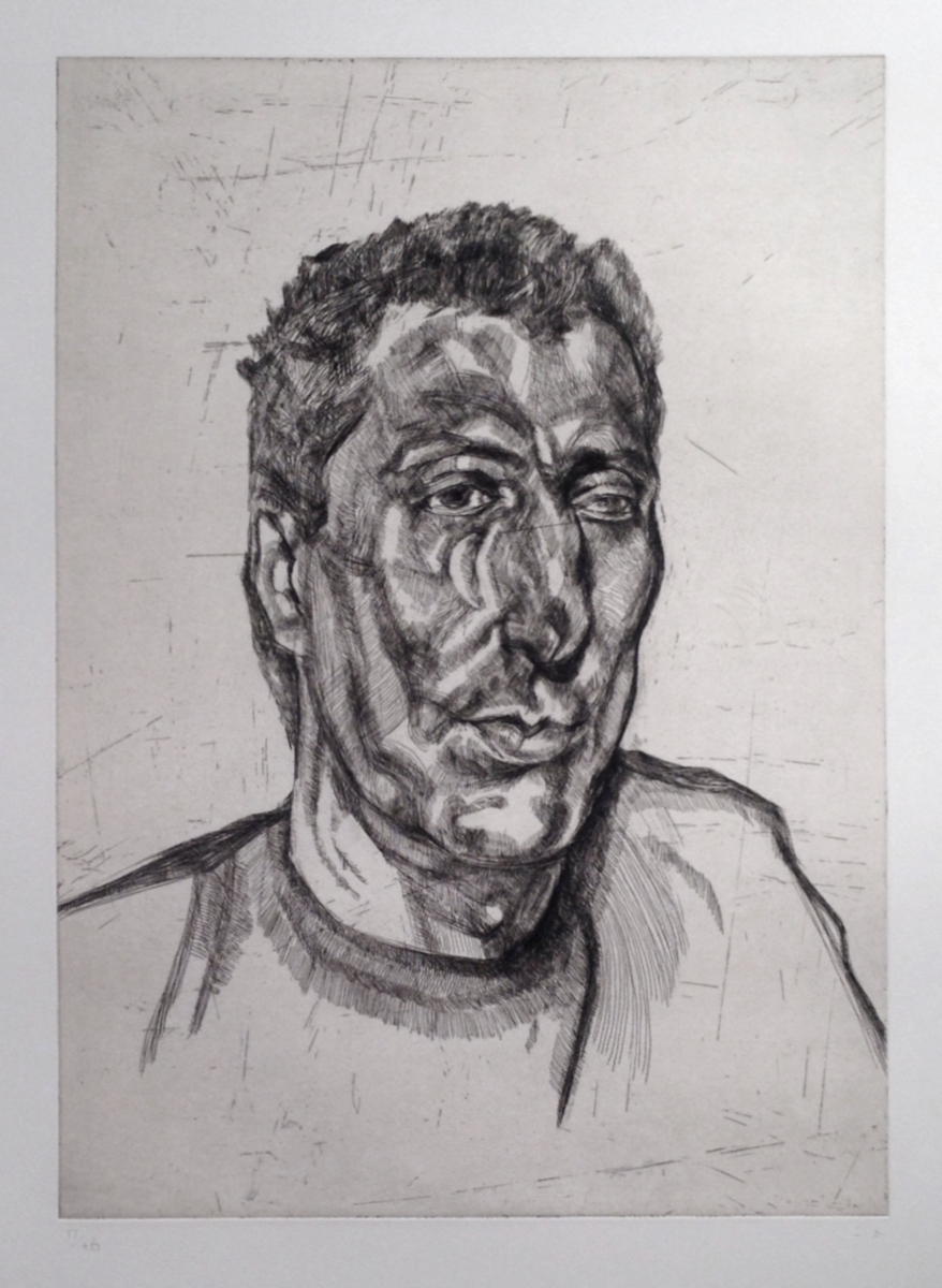 Lucian Freud Head of Ali original signed etching for sale