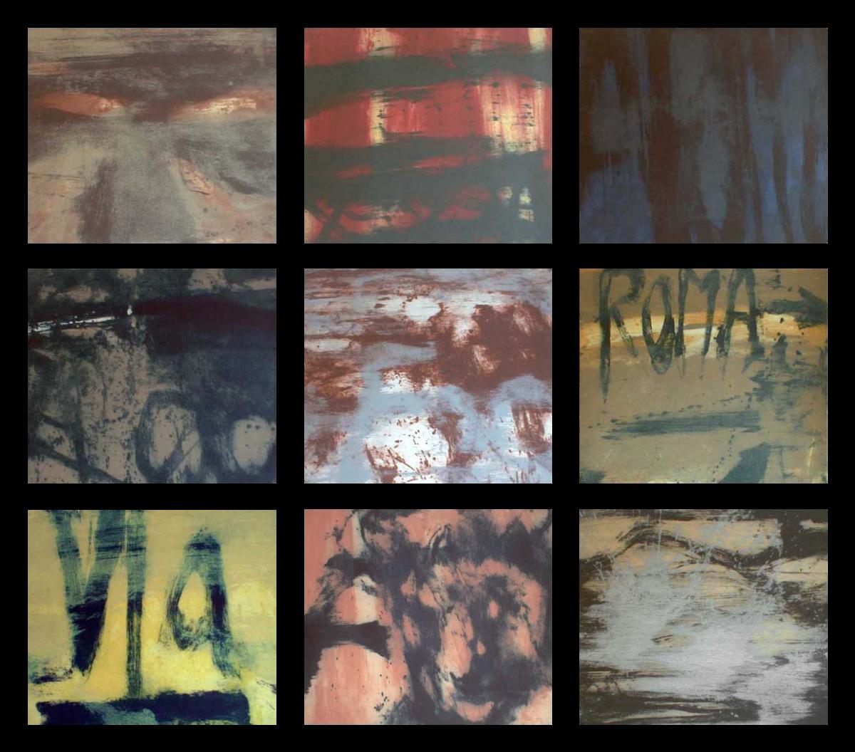 Hughie O'Donoghue Crossing The Rapido original set of 9 carborundum prints signed by the artist for sale