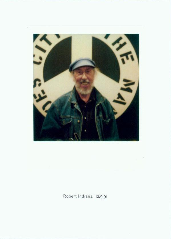 Richard Hamilton Robert Indiana 12.9.91 unique digitally remastered polaroid for sale
