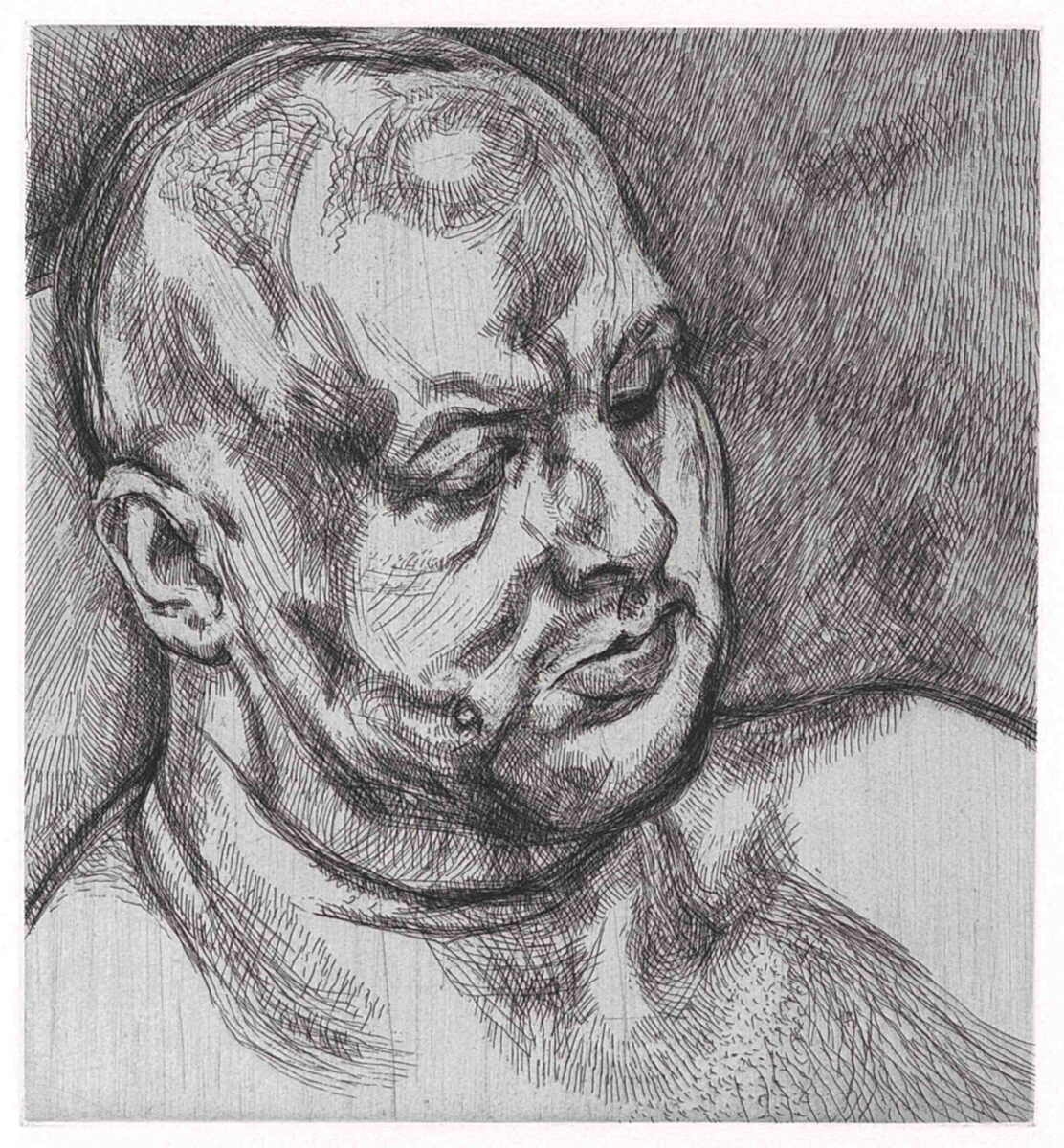 Lucian Freud Head of a Man signed etching for sale
