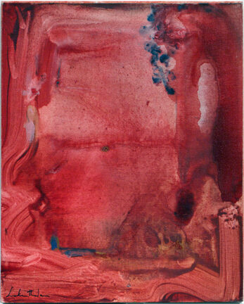 Helen Frankenthaler Untitled original acrylic on vanvas board signed and dated for sale