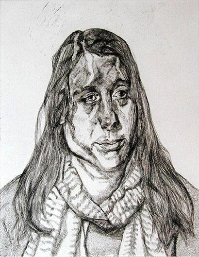 Lucian Freud Portrait Head original signed etching for sale
