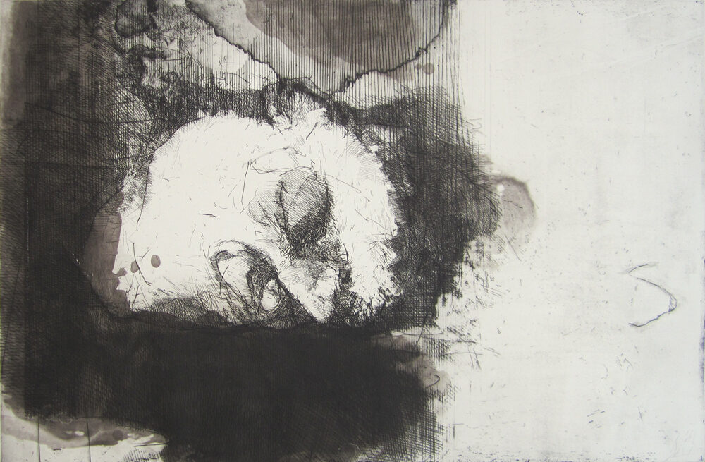 Hughie O'Donoghue Bruise original hard ground etching and aquatint signed by artist for sale
