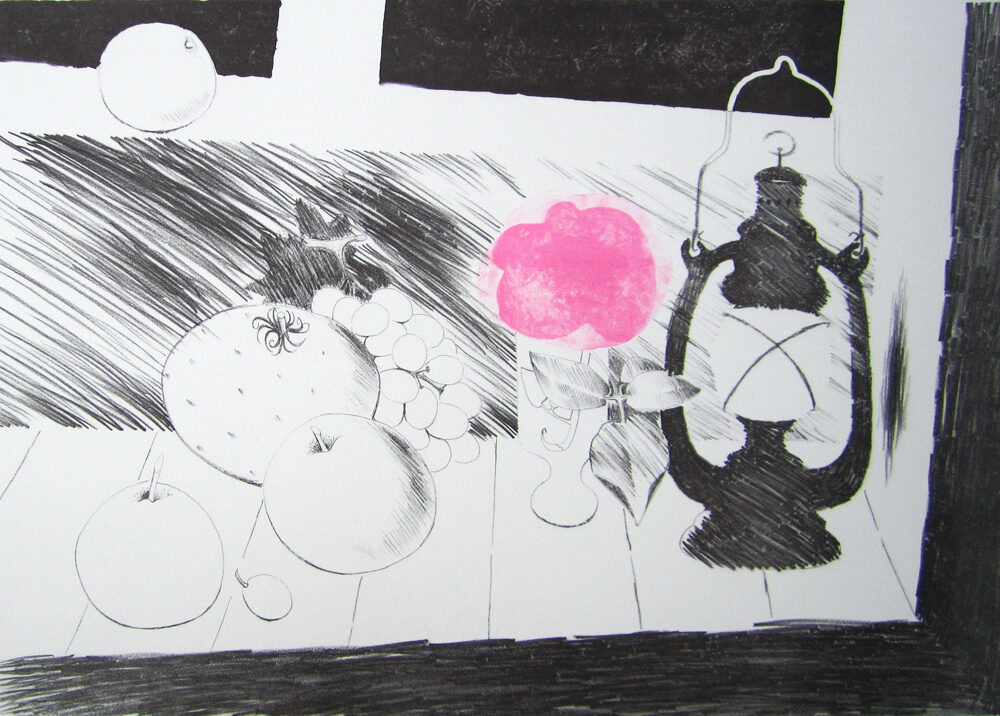 Mary Fedden Lamplight original signed lithograph in colours for sale