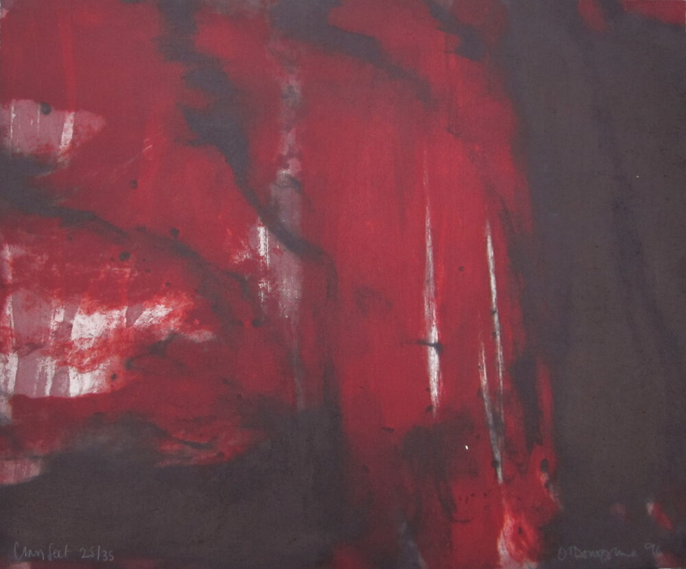 Hughie O'donoghue Clay Feet original colour carborundum print from the edition of 35 signed for sale