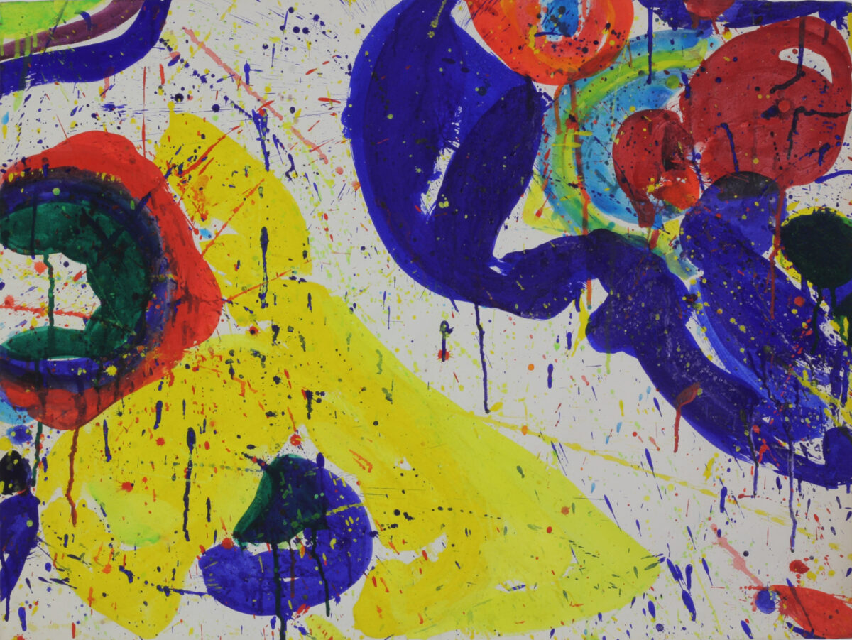 Sam Francis Los Angeles Tokyo (SFP63-073) original acrylic on paper signed and dated