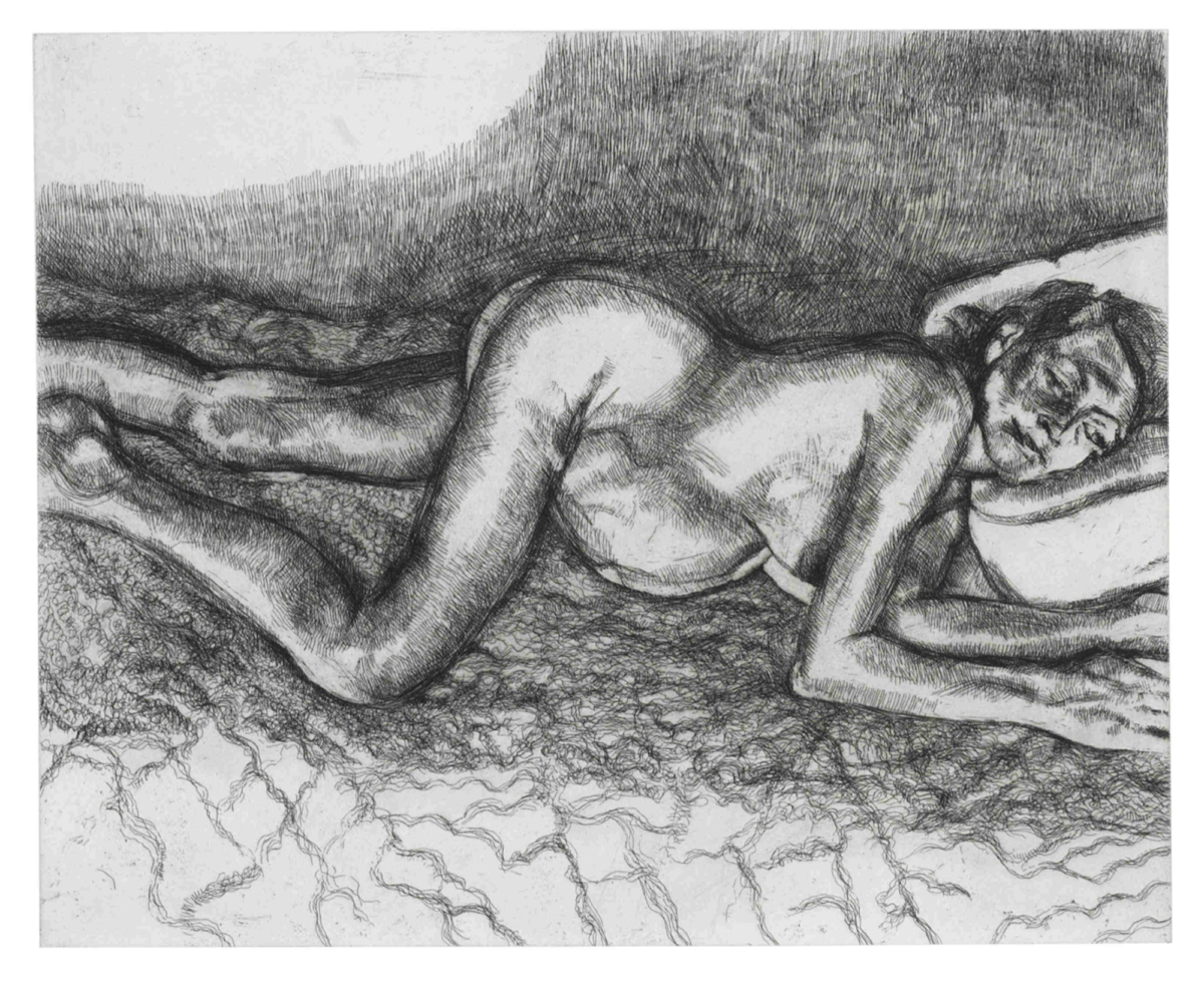 Lucian Freud Before The Fourth original etching for sale