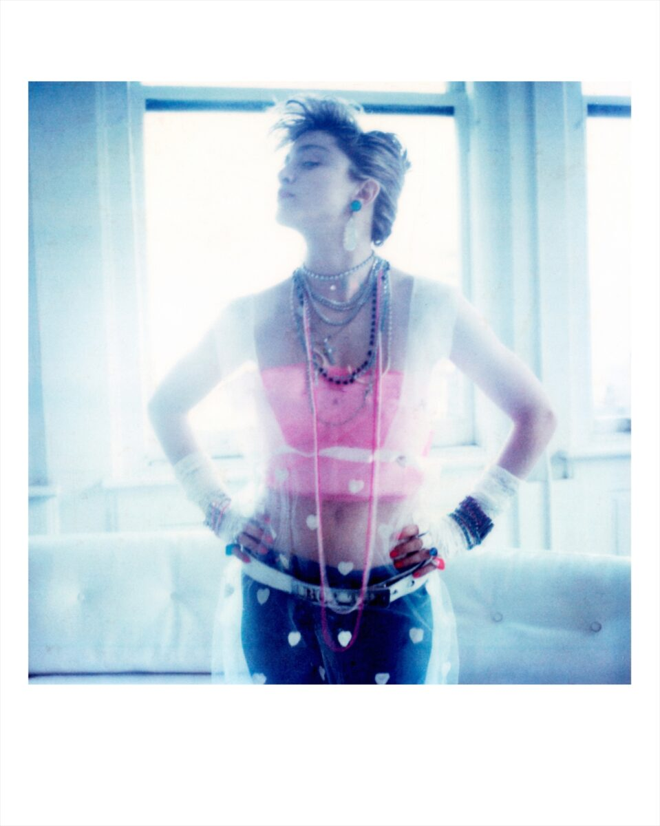 Maripol Madonna in a Maripol outfit original polaroid print