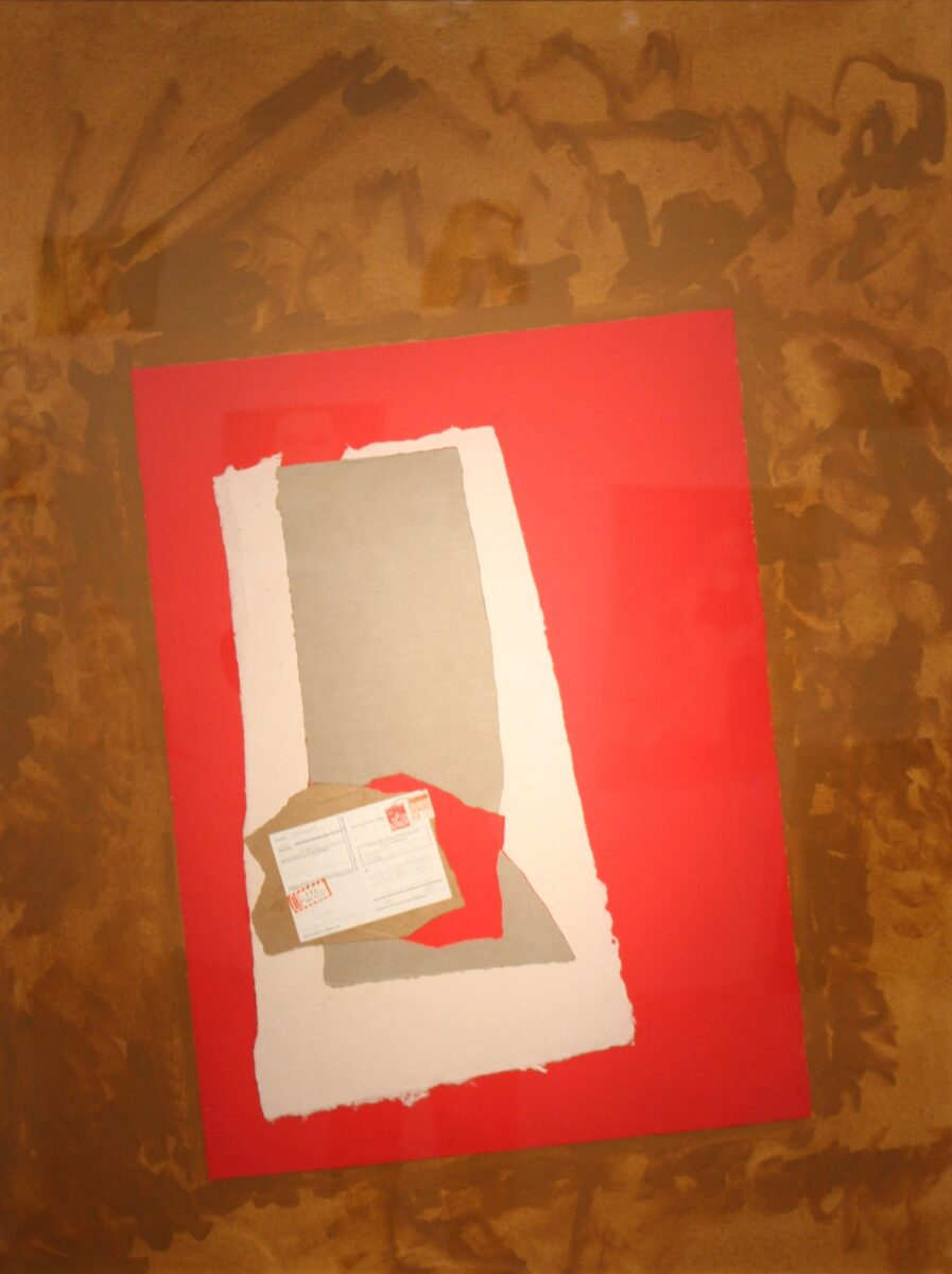 Robert Motherwell The Life of Will Grohmann acrylic and collage element on canvas laid down on board signed original