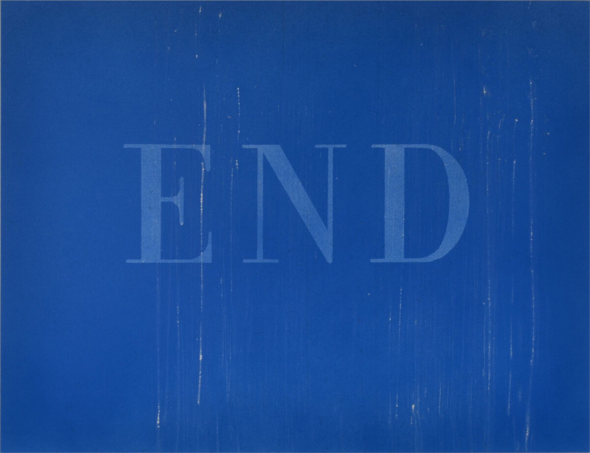 Ed Ruscha The End #37 original painting