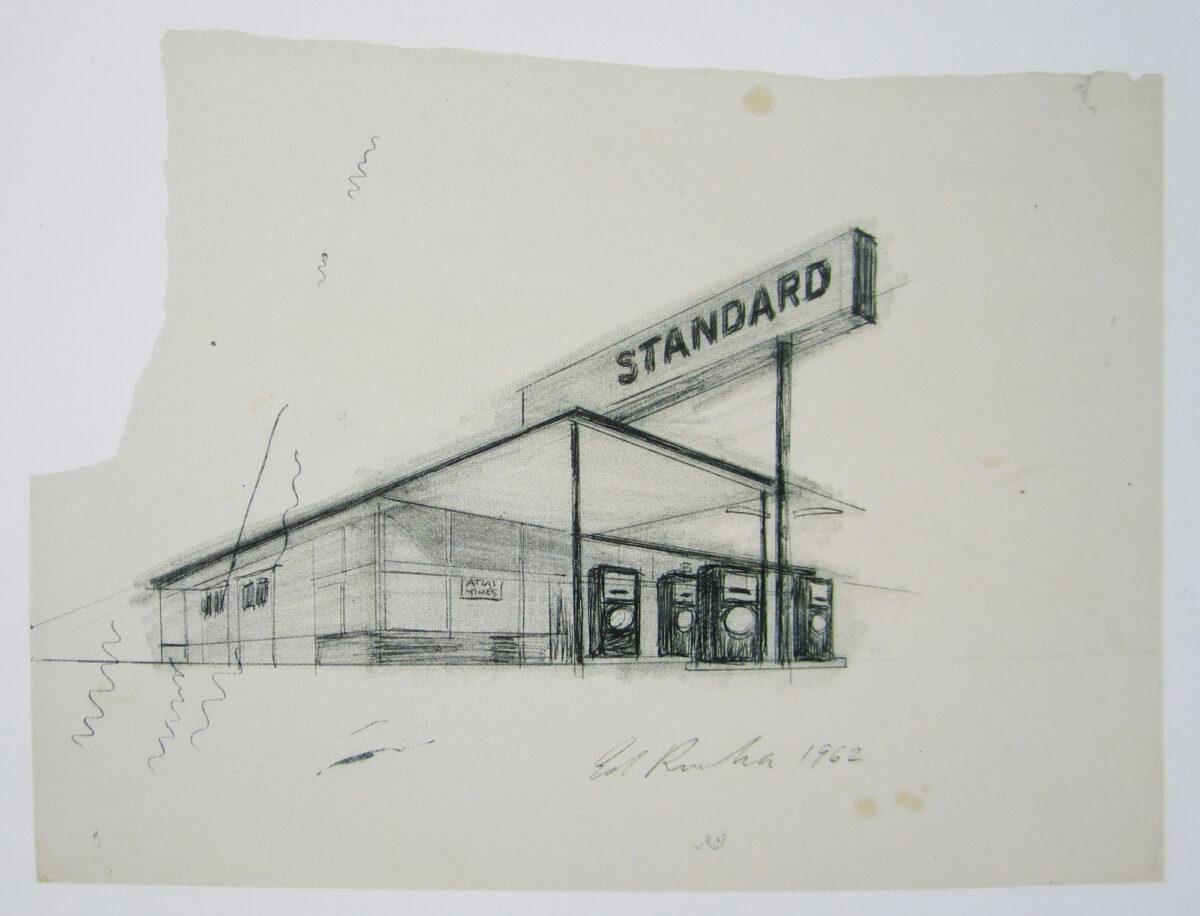 Ed Ruscha Standard Shaded Ballpoint original drawing