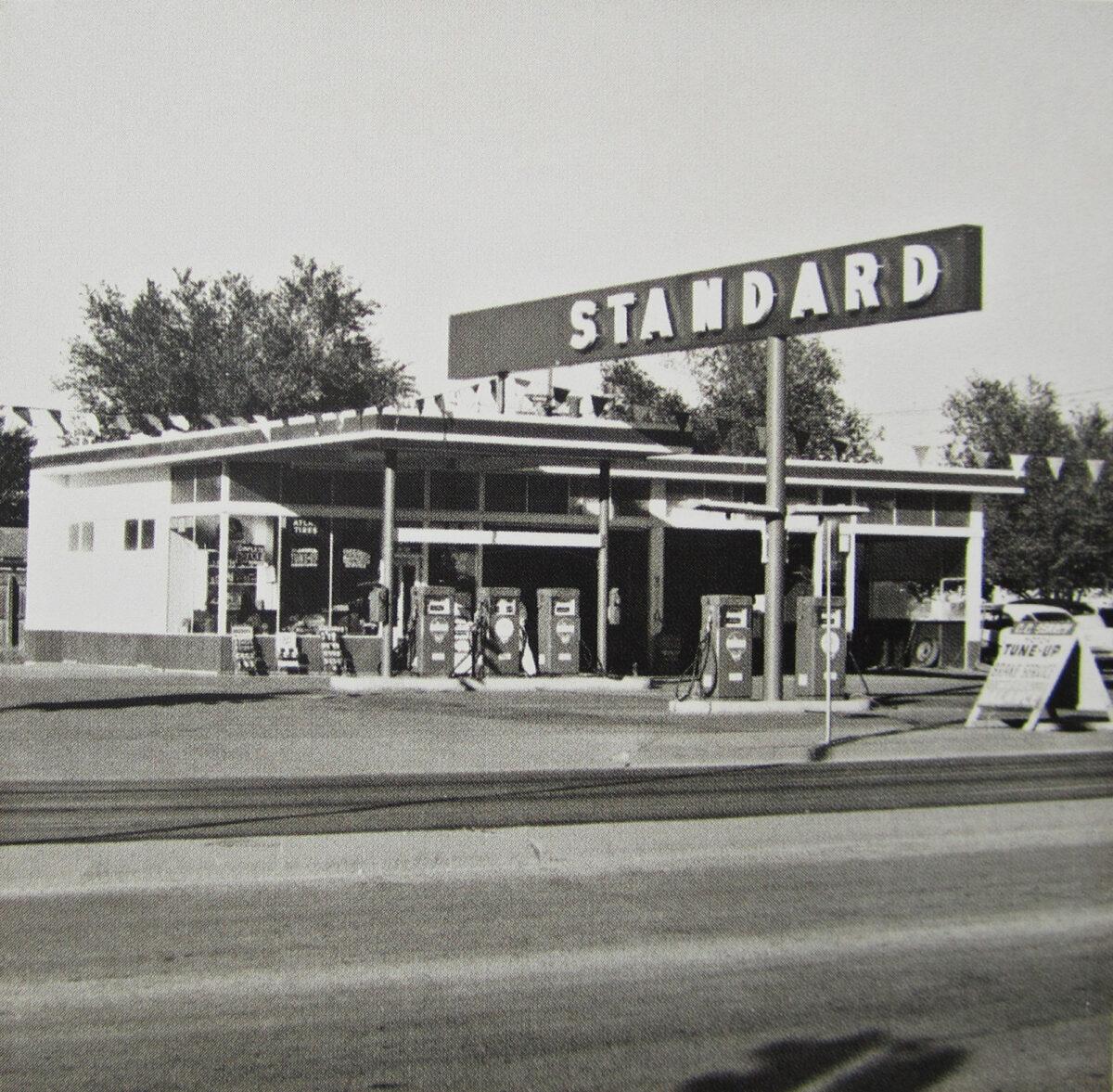 Ed Ruscha Standard Station Amarillo Texas silver gelatine print