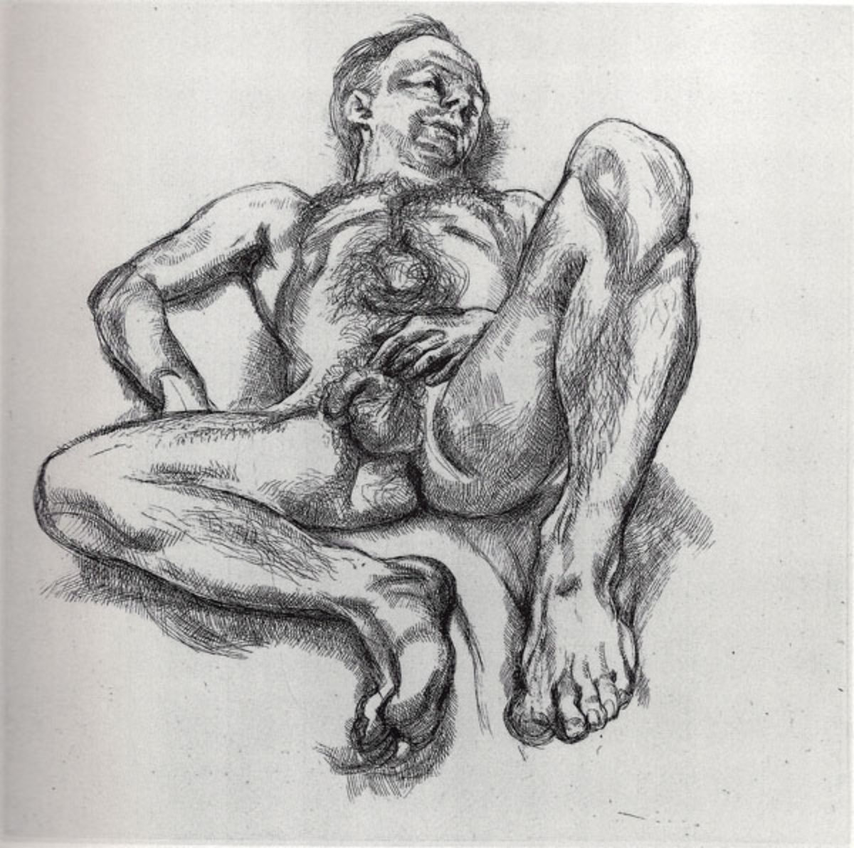 FREUD Naked Man On A Bed 1990