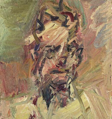 Frank Auerbach Head of David Landau original oil on canvas