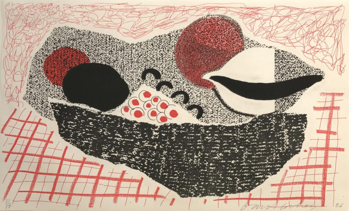 David Hockney Lemons and Oranges, original home made print for sale