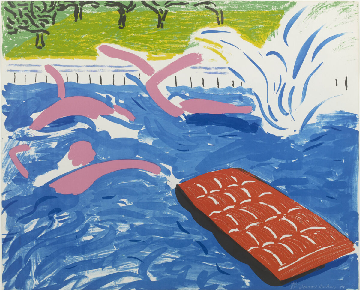 David Hockney Afternoon Swimming, original lithographic print for sale