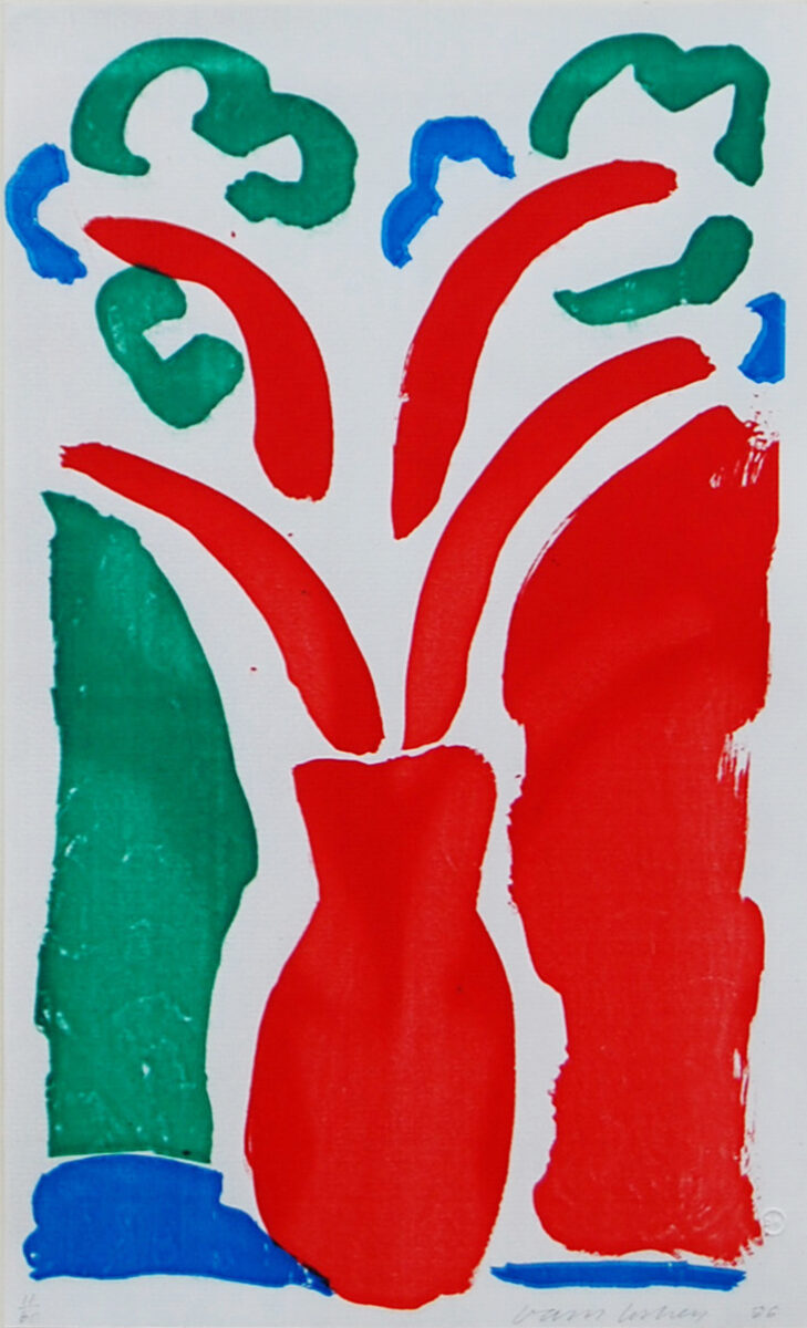 David Hockney The Red Pot, original photolithographic print for sale