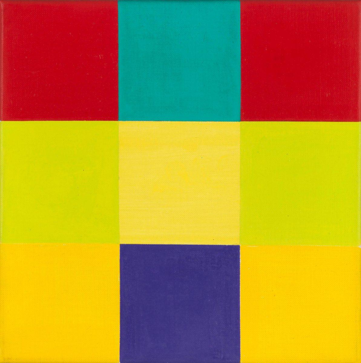 LOHSE Entwurf B zu waagerechte Dominante mit violettem Quadrat R Lo M 1 001 L