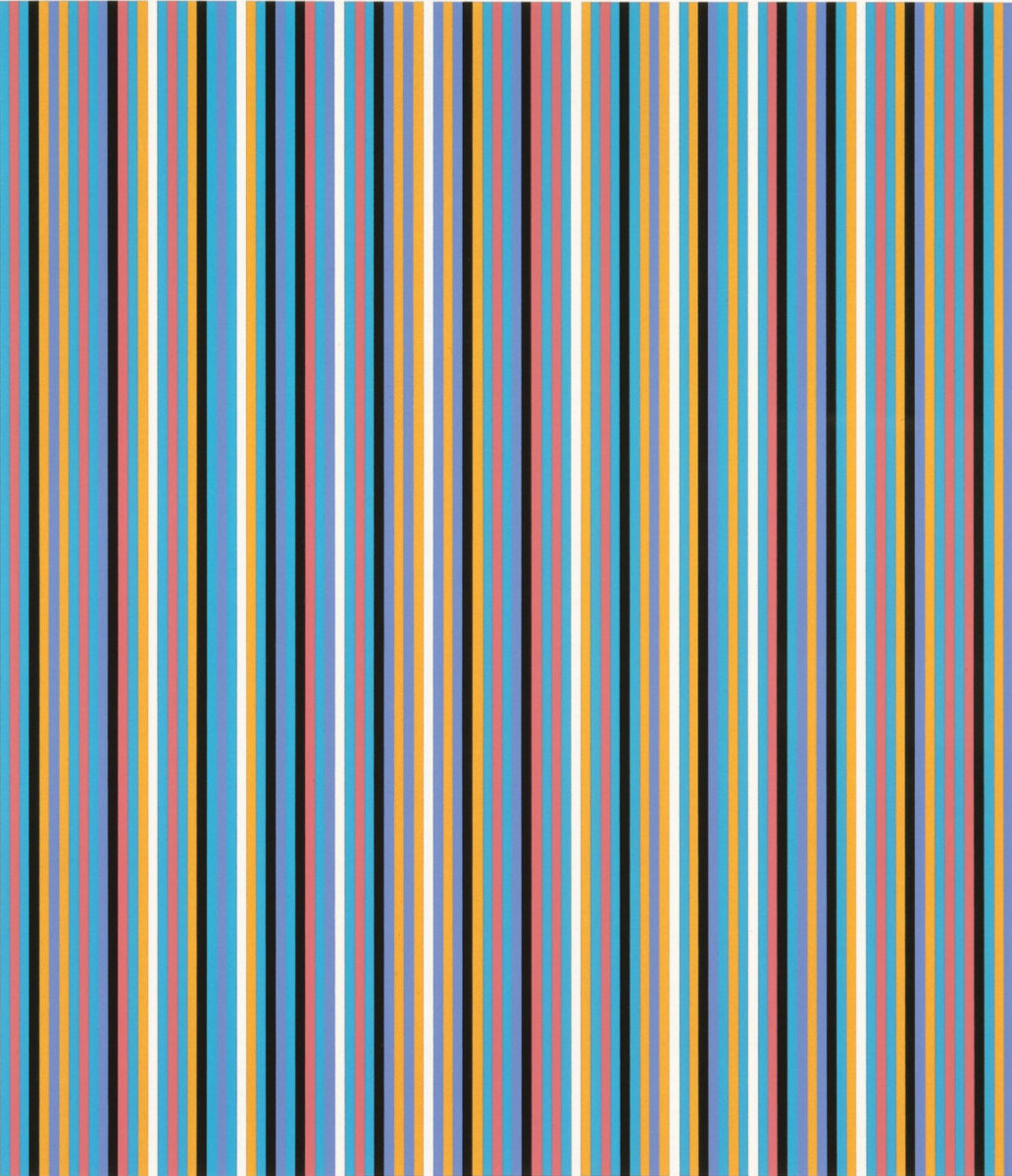 Bridget Riles Edge of Light, original screenprint in colours for sale