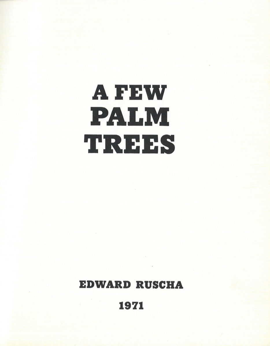 Ruscha Palm Trees 3