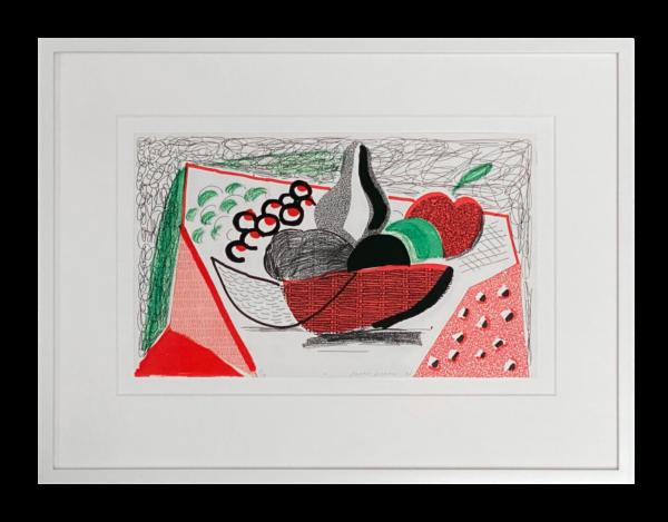 Apples Pears & Grapes - David Hockney