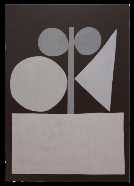 Untitled (Black and Gray) - Jonas Wood