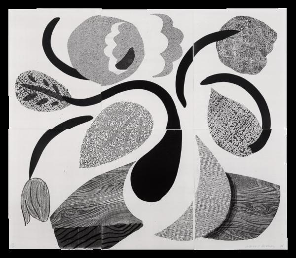 Dancing Flowers - David Hockney