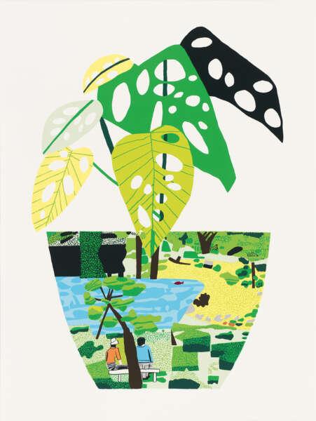 Landscape Pot with Plant - Jonas Wood